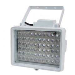Spot projecteur Infrarouge étanche 140 LEDs Vision nocturne pour caméra. Distanche d'éclairage : 100m