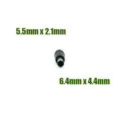 Adaptateur de diamètre d'embout 5.5/2.1mm vers 6.4/4.4mm avec picot central 1.4mm pour chargeur