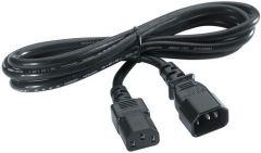 Rallonge électrique IEC320 C13 vers C14 (mâle-femelle)