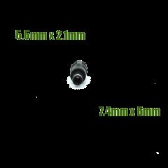 Adaptateur de diamètre d'embout 5.5/2.1mm vers 7.4/5.5mm avec picot central pour chargeur
