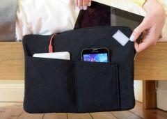 Z-charge - Rangement et chargeur de tablette et téléphone pour le lit ou le canapé (noir)